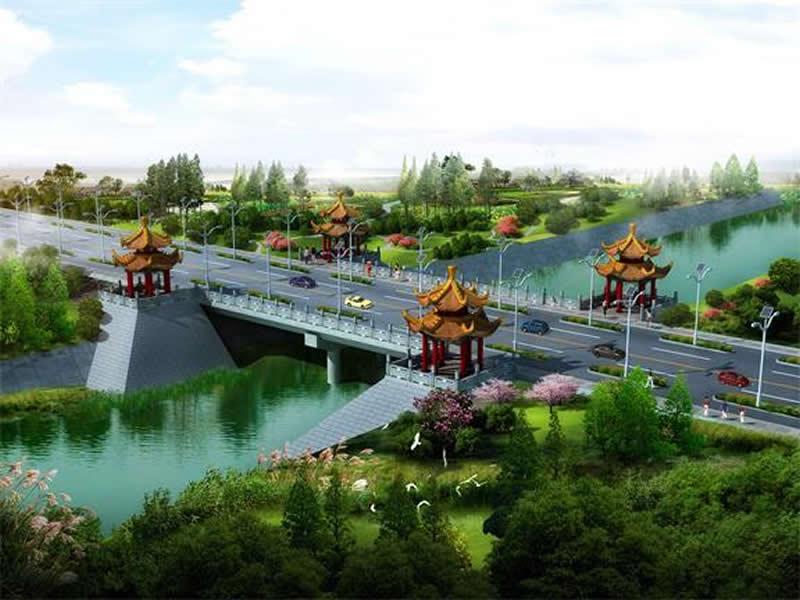 潼关堤顶路交通桥项目